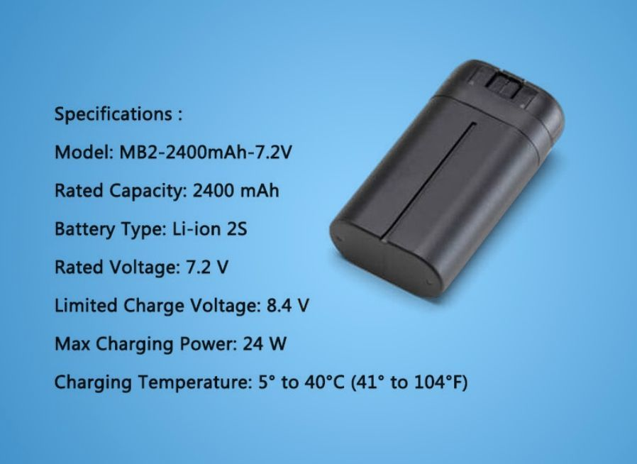 RSプロダクト Mavic mini 2400mAh【大容量バッテリー】DJI純正 正規品 バッテリー海外版