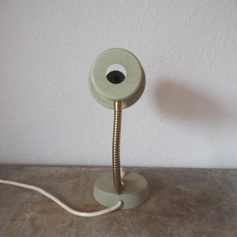フランス ヴィンテージ メタル真鍮製バウハウス 照明 アトリエ 工業系 ランプ ライト デスクランプ シャビー 古道具 小物 家具 店舗什器 白_画像5