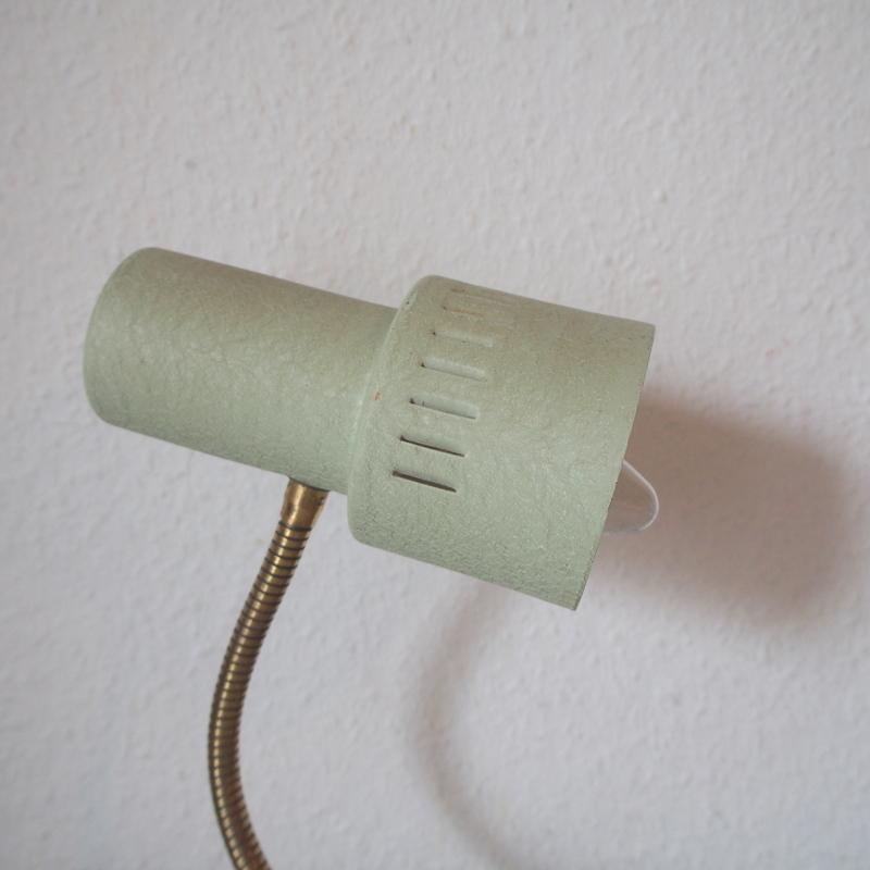 フランス ヴィンテージ メタル真鍮製バウハウス 照明 アトリエ 工業系 ランプ ライト デスクランプ シャビー 古道具 小物 家具 店舗什器 白_画像3