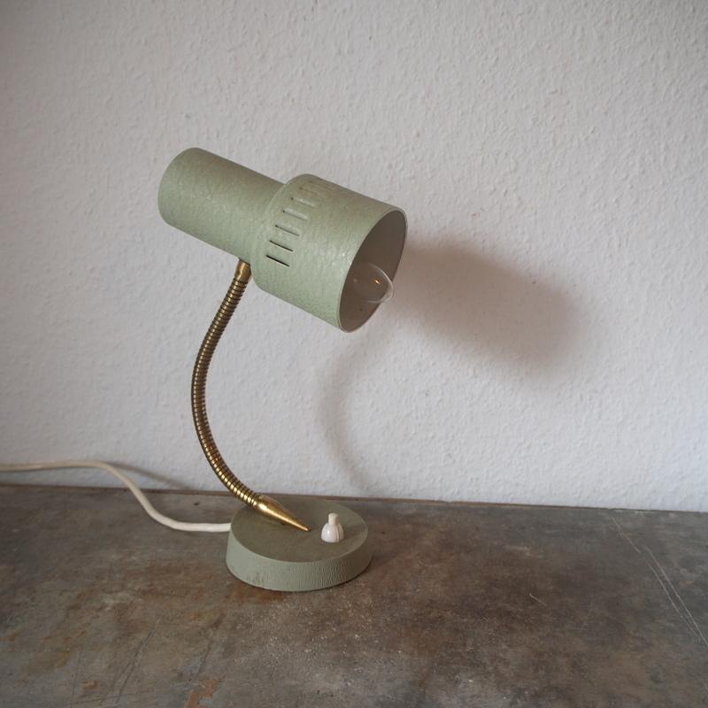 フランス ヴィンテージ メタル真鍮製バウハウス 照明 アトリエ 工業系 ランプ ライト デスクランプ シャビー 古道具 小物 家具 店舗什器 白_画像2