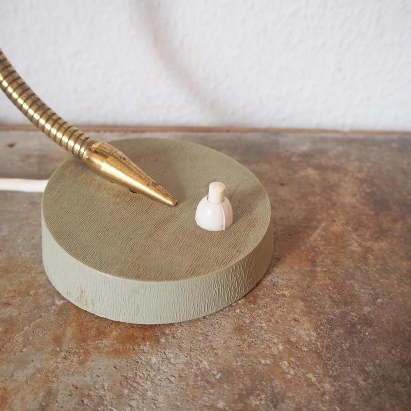 フランス ヴィンテージ メタル真鍮製バウハウス 照明 アトリエ 工業系 ランプ ライト デスクランプ シャビー 古道具 小物 家具 店舗什器 白_画像4