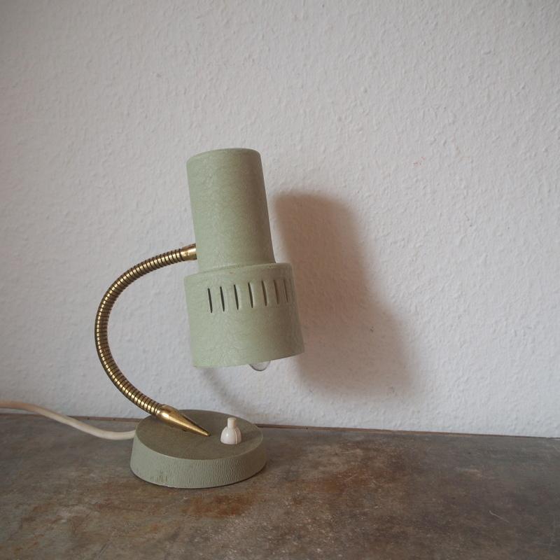 フランス ヴィンテージ メタル真鍮製バウハウス 照明 アトリエ 工業系 ランプ ライト デスクランプ シャビー 古道具 小物 家具 店舗什器 白_画像1