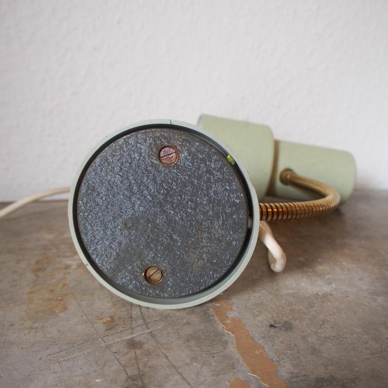 フランス ヴィンテージ メタル真鍮製バウハウス 照明 アトリエ 工業系 ランプ ライト デスクランプ シャビー 古道具 小物 家具 店舗什器 白_画像7