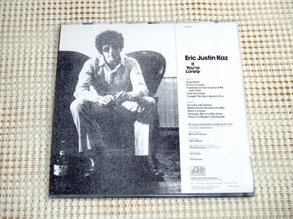 廃盤 高音質HDCD 紙ジャケ Eric Justin Kaz エリック ジャスティン カズ If You're Lonely /Bonnie Raitt Richard Davis Grady Tate 等参加