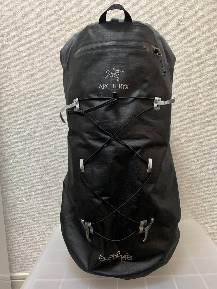 【送料無料・中古美品】アークテリクス アルファ FL 45 バックパック ブラック
