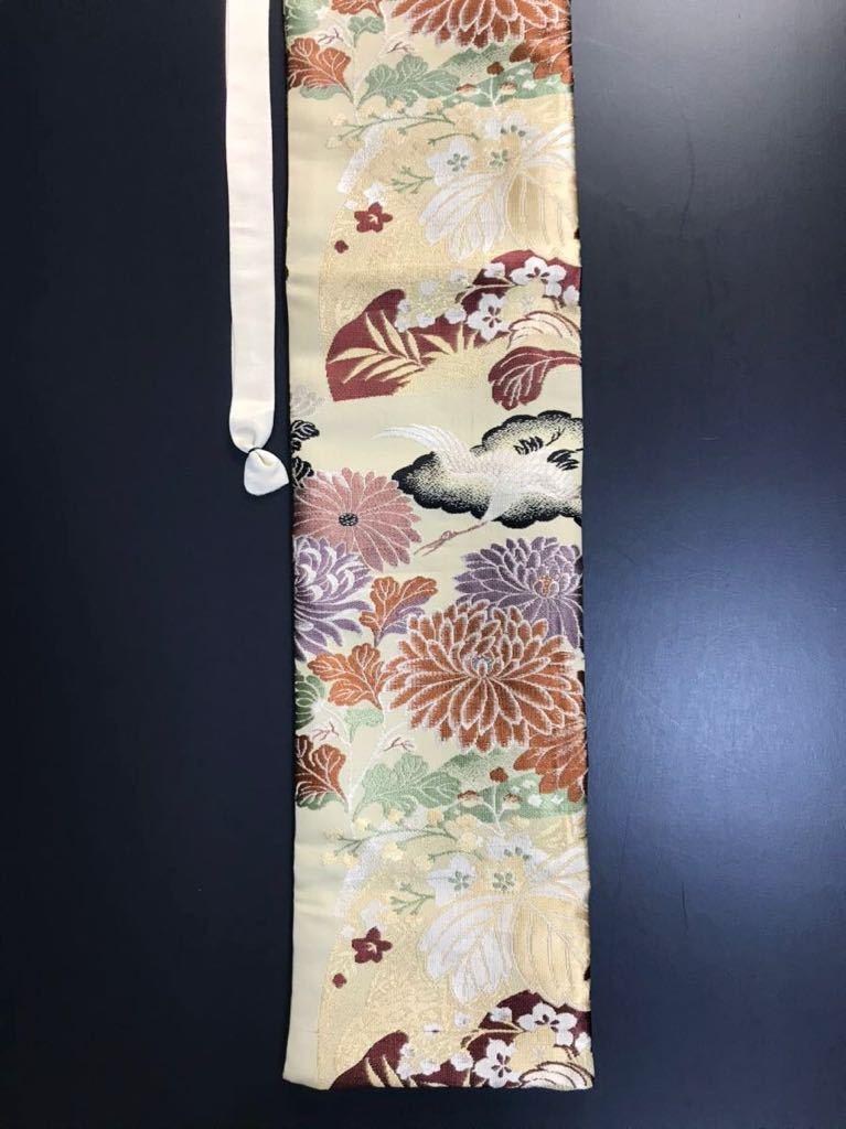 [kmB-3] 限定4本 日本刀 太刀 刀 刀袋 豪華 華紋 飛鶴紋 職人ハンドメイド 100%正絹使用 一点物 B-3_画像8