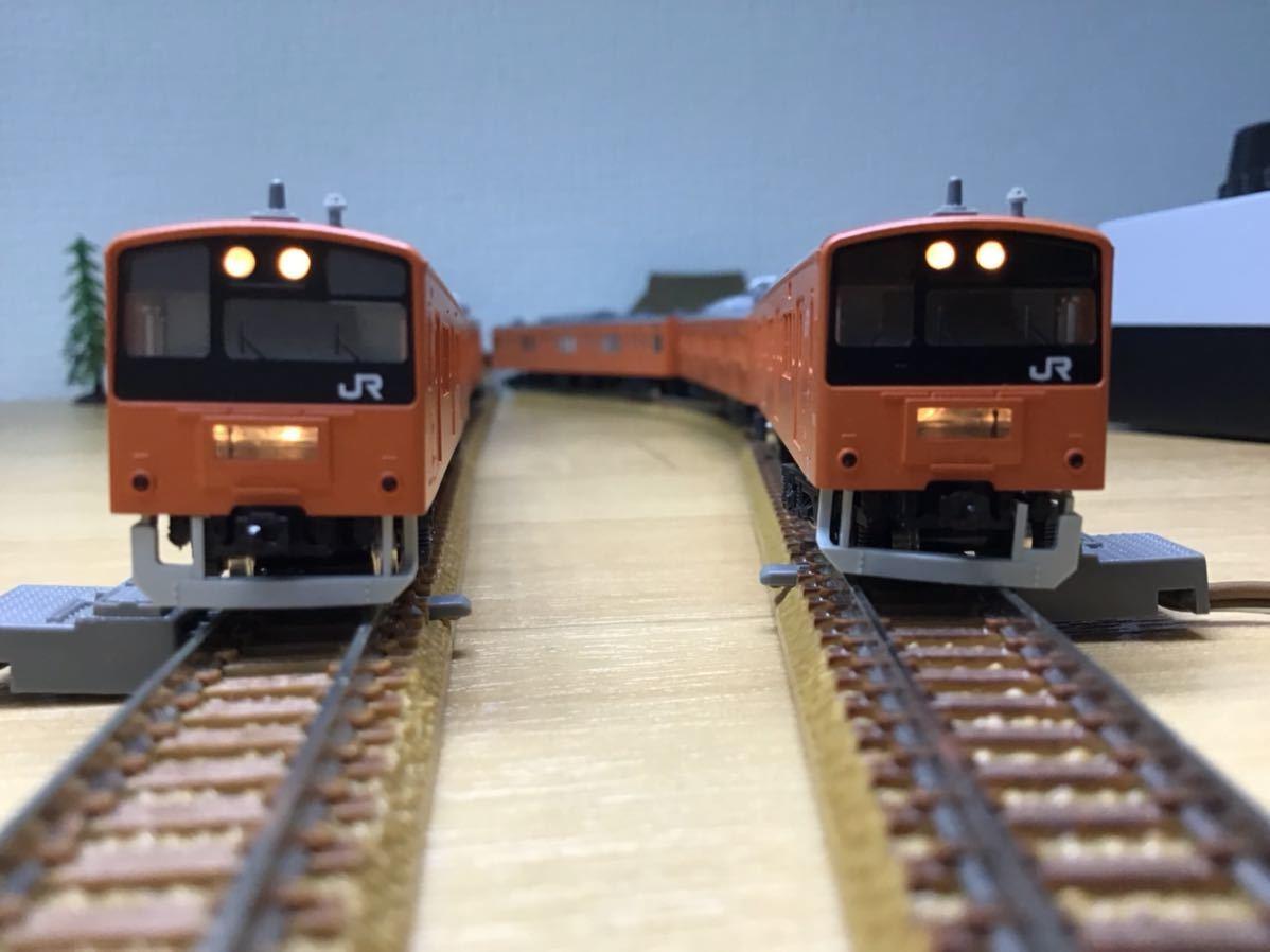 【智】関水金属 KATO 201系 直流通勤形電車(中央線色)6両基本セット 動作確認済み 自宅整理品 Nゲージ 鉄道模型 (No548)_画像7