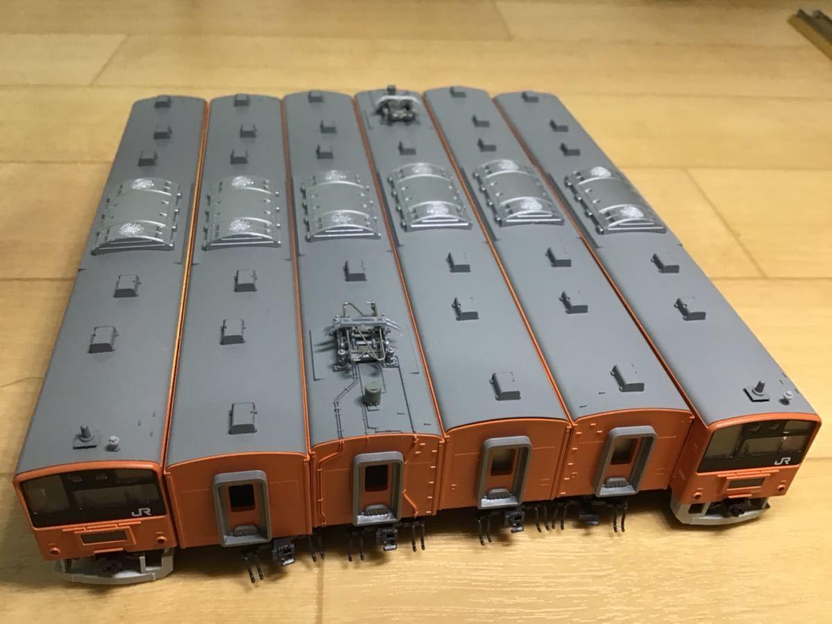 【智】関水金属 KATO 201系 直流通勤形電車(中央線色)6両基本セット 動作確認済み 自宅整理品 Nゲージ 鉄道模型 (No548)_画像5