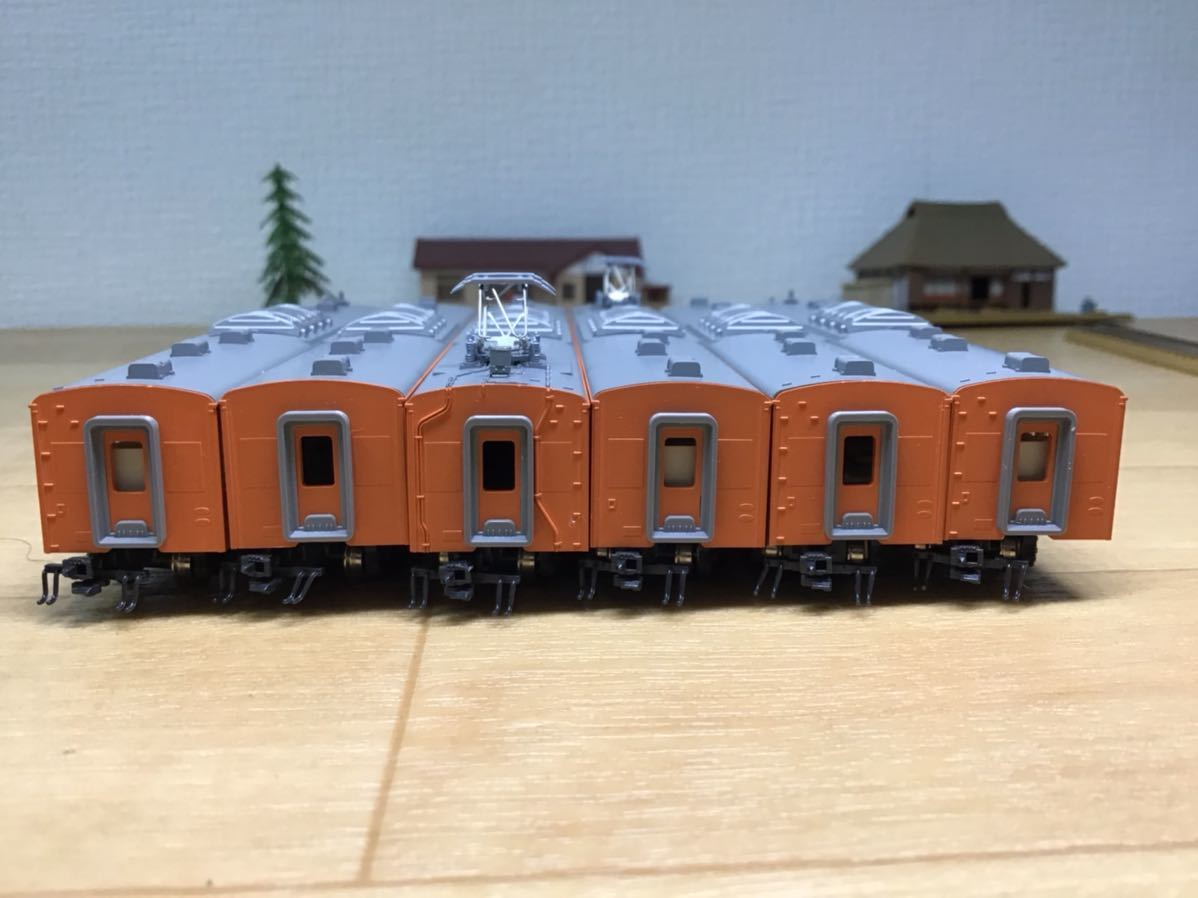 【智】関水金属 KATO 201系 直流通勤形電車(中央線色)6両基本セット 動作確認済み 自宅整理品 Nゲージ 鉄道模型 (No548)_画像6