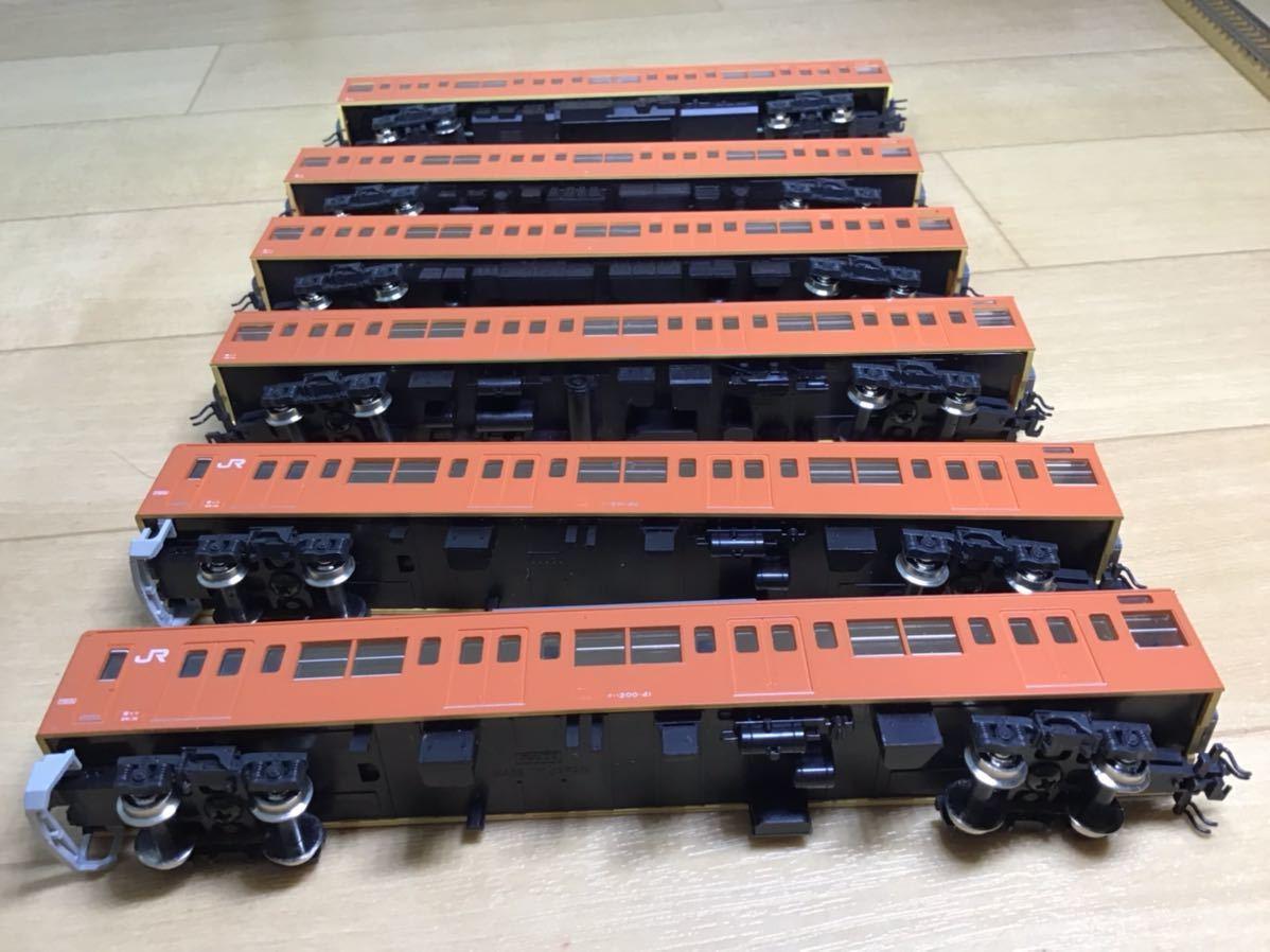 【智】関水金属 KATO 201系 直流通勤形電車(中央線色)6両基本セット 動作確認済み 自宅整理品 Nゲージ 鉄道模型 (No548)_画像9