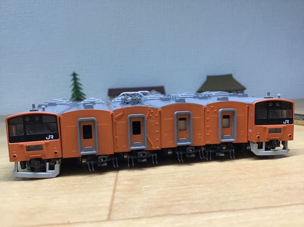 【智】関水金属 KATO 201系 直流通勤形電車(中央線色)6両基本セット 動作確認済み 自宅整理品 Nゲージ 鉄道模型 (No548)_画像4