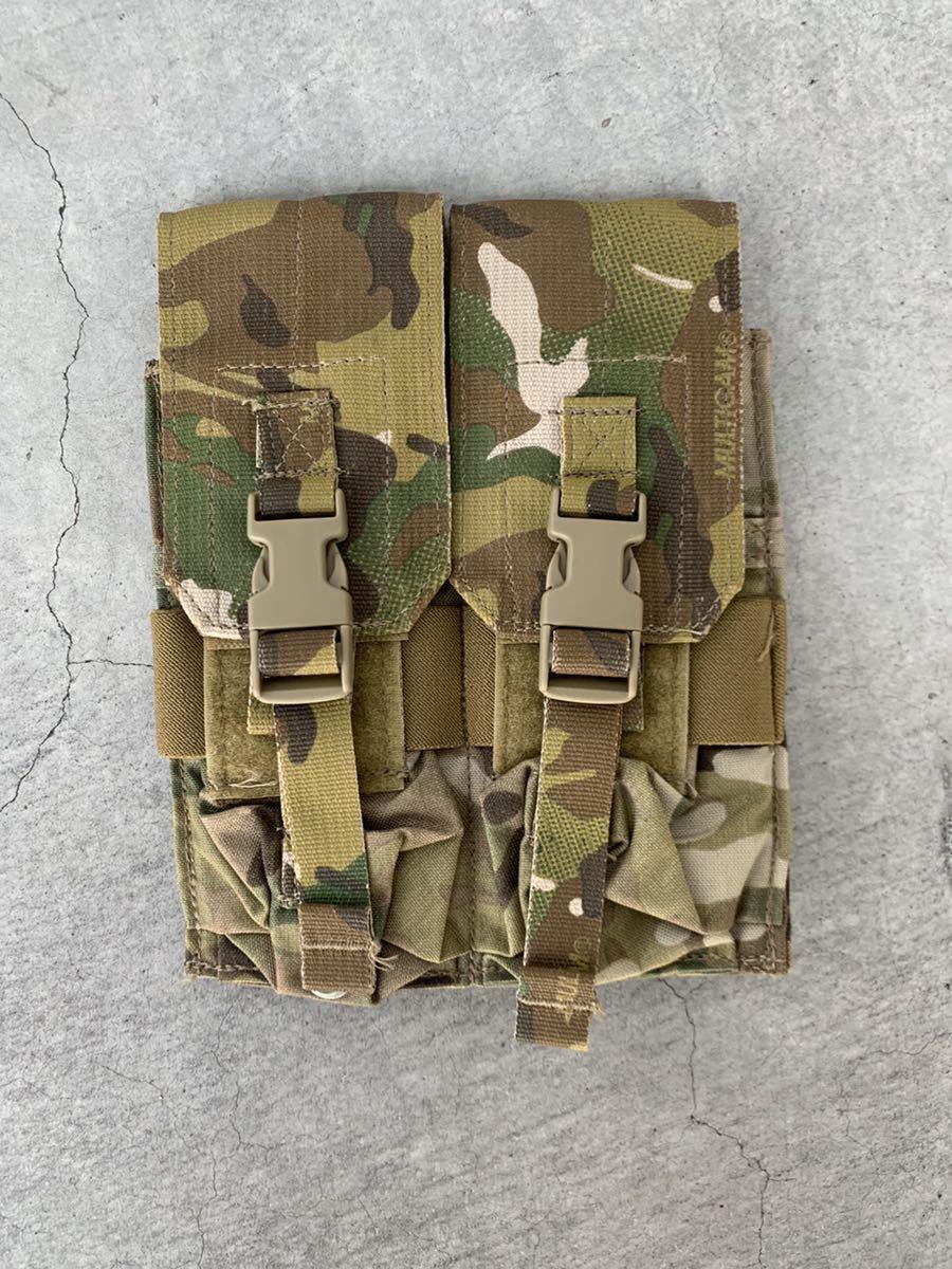 米軍 実物 放出品 EAGLE マルチカム M4 ダブル マガジン ポーチ_画像1
