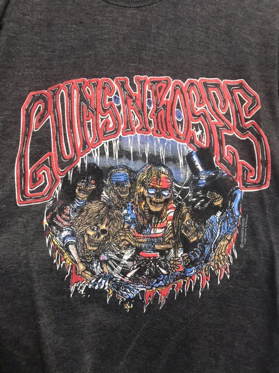 当時物 1992年製 ガンズ ツアーTシャツ ガンズアンドローゼズ オフィシャル guns n roses 半袖Tシャツ 90's 80's slash_画像4