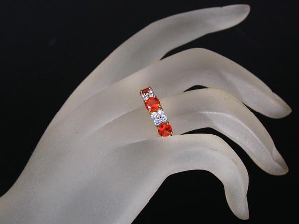 ☆じゅえりぃばんく☆田崎真珠 TASAKI 鮮やかオレンジのレアストーン!K18 スペサルティンガーネット ダイヤモンド リング【鑑別付】_画像5