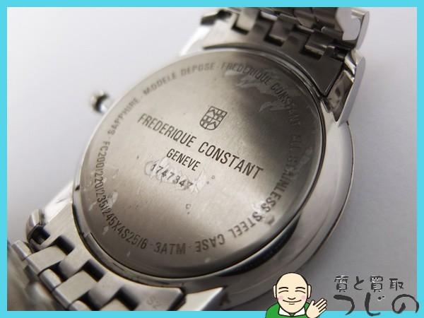 送料無料 フレデリック コンスタント メンズ腕時計 スモセコ クオーツ QZ SS FC200/220 FREDERIQUE CONSTANT 神戸 質屋つじの_画像9