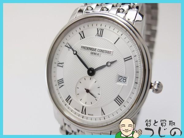 送料無料 フレデリック コンスタント メンズ腕時計 スモセコ クオーツ QZ SS FC200/220 FREDERIQUE CONSTANT 神戸 質屋つじの_画像4