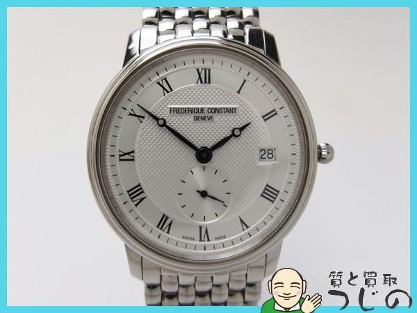 送料無料 フレデリック コンスタント メンズ腕時計 スモセコ クオーツ QZ SS FC200/220 FREDERIQUE CONSTANT 神戸 質屋つじの_画像1