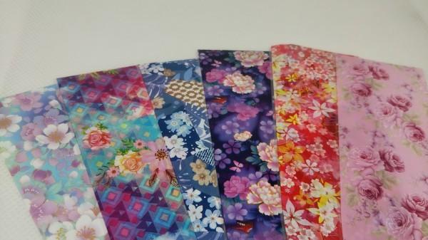 【N2】② ネイルアート 転写ホイル 花柄 フラワー 6種類 各10×4㎝ 0321_画像1