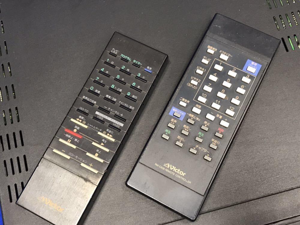 ジャンク★Victor ビクター S-VHS ビデオデッキ「HR-S9000」リモコン 部品取り ジャンク扱い_画像3