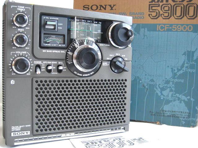 BCL 極上品 SONY ソニー スカイセンサー5900 後期型 箱入 完全動作調整済品 高感度受信