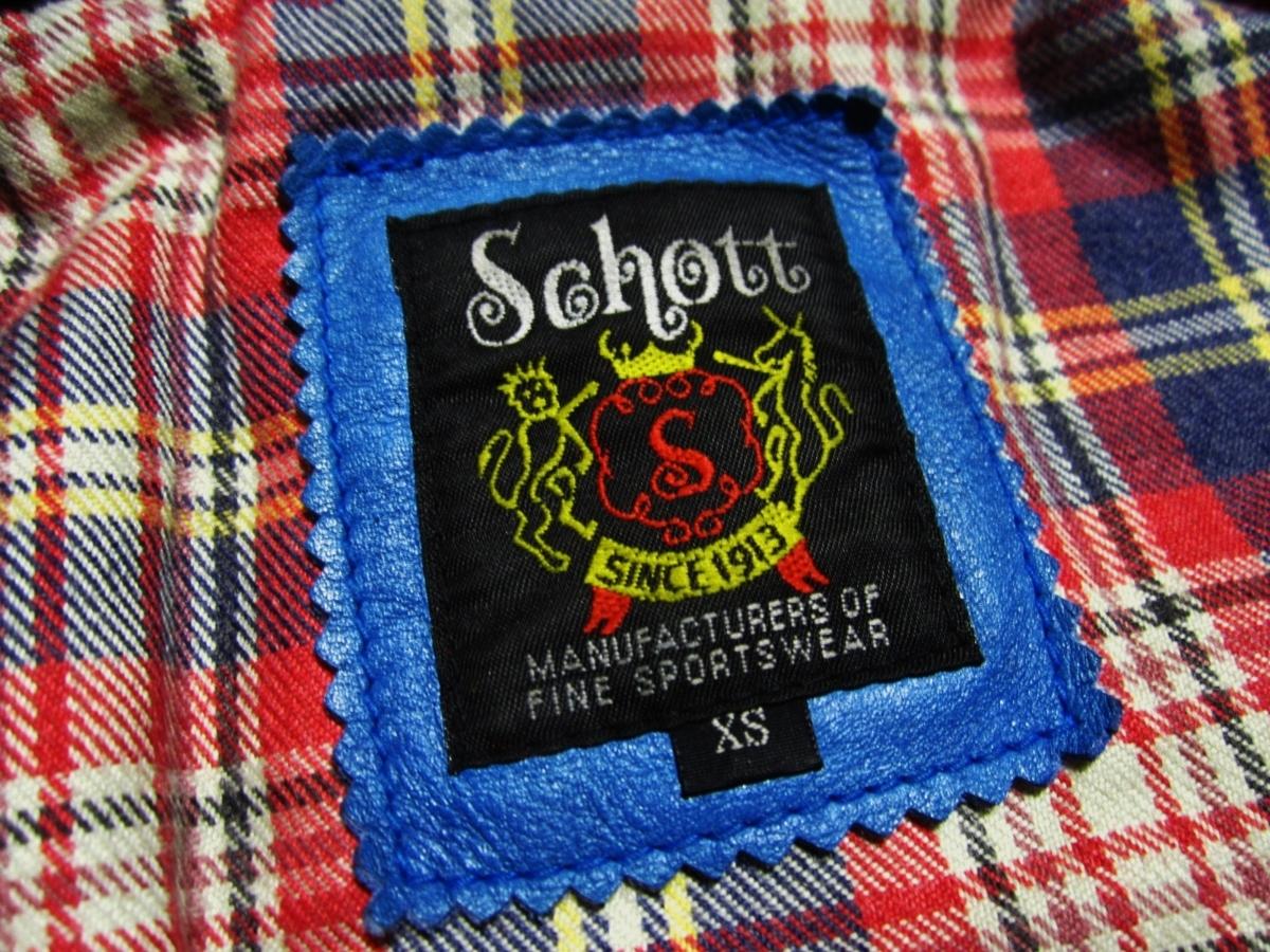 未使用品 Schott ショット クラシックレーサー ジャケット Johnny Special ジョニー スペシャル レザー ライダース XS ブルー 3161001_画像9