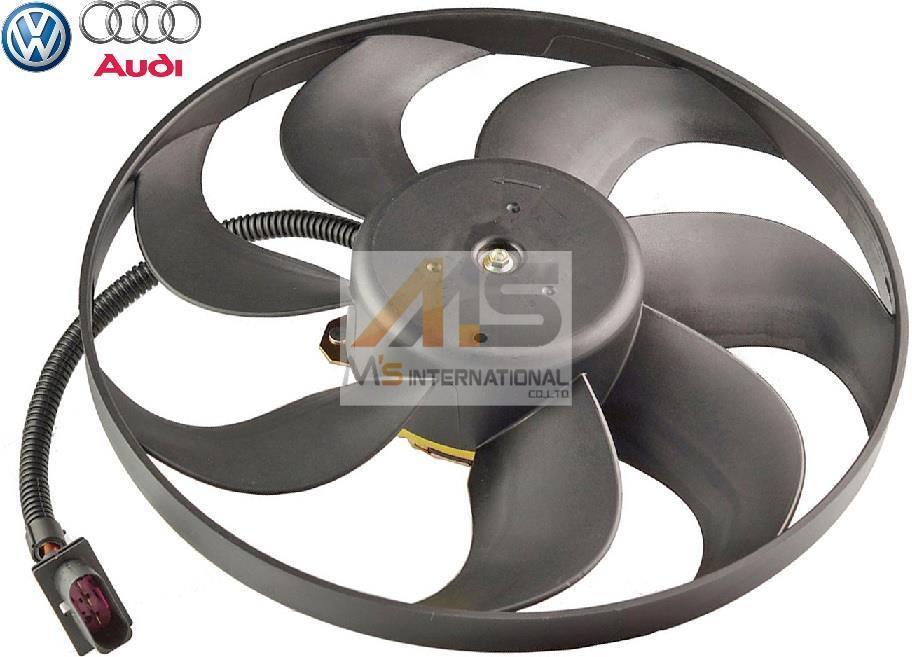 【M's】VW ルポ(6X) ニュービートル(1Y/9C) 純正OEM ラジエーター 電動ファン (345mm)//アディショナルファン ブロアファン 6X0959455C_画像1