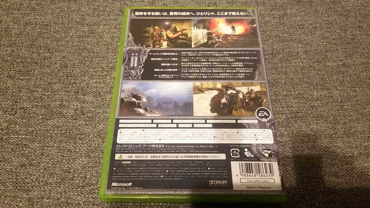 XBOX360ソフト アーミー オブ ツー ARMY OF TWO