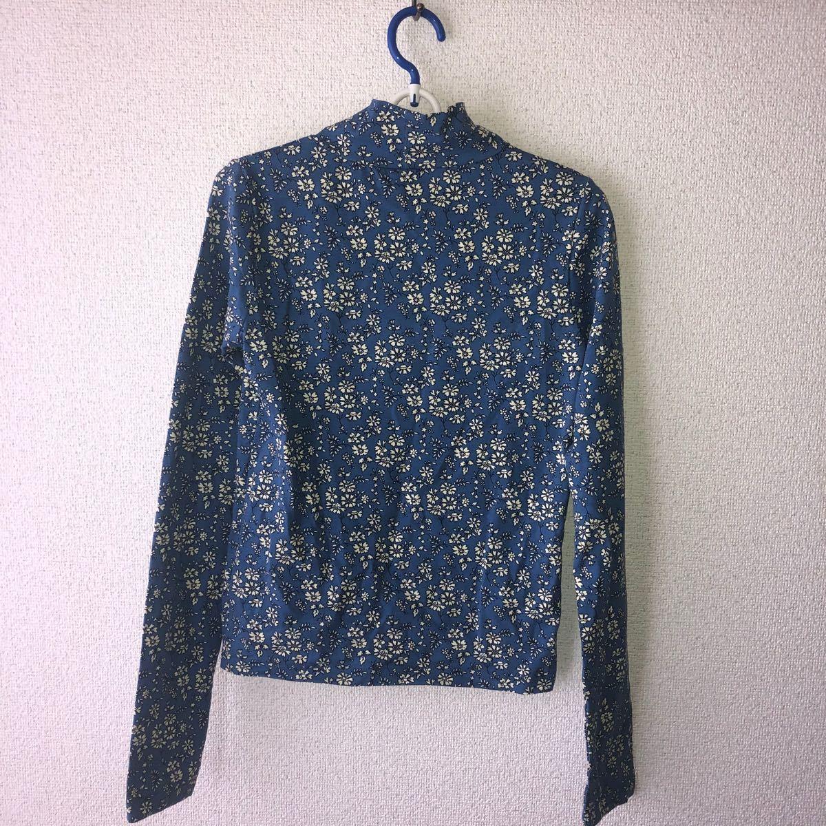 長袖 カットソー 花柄