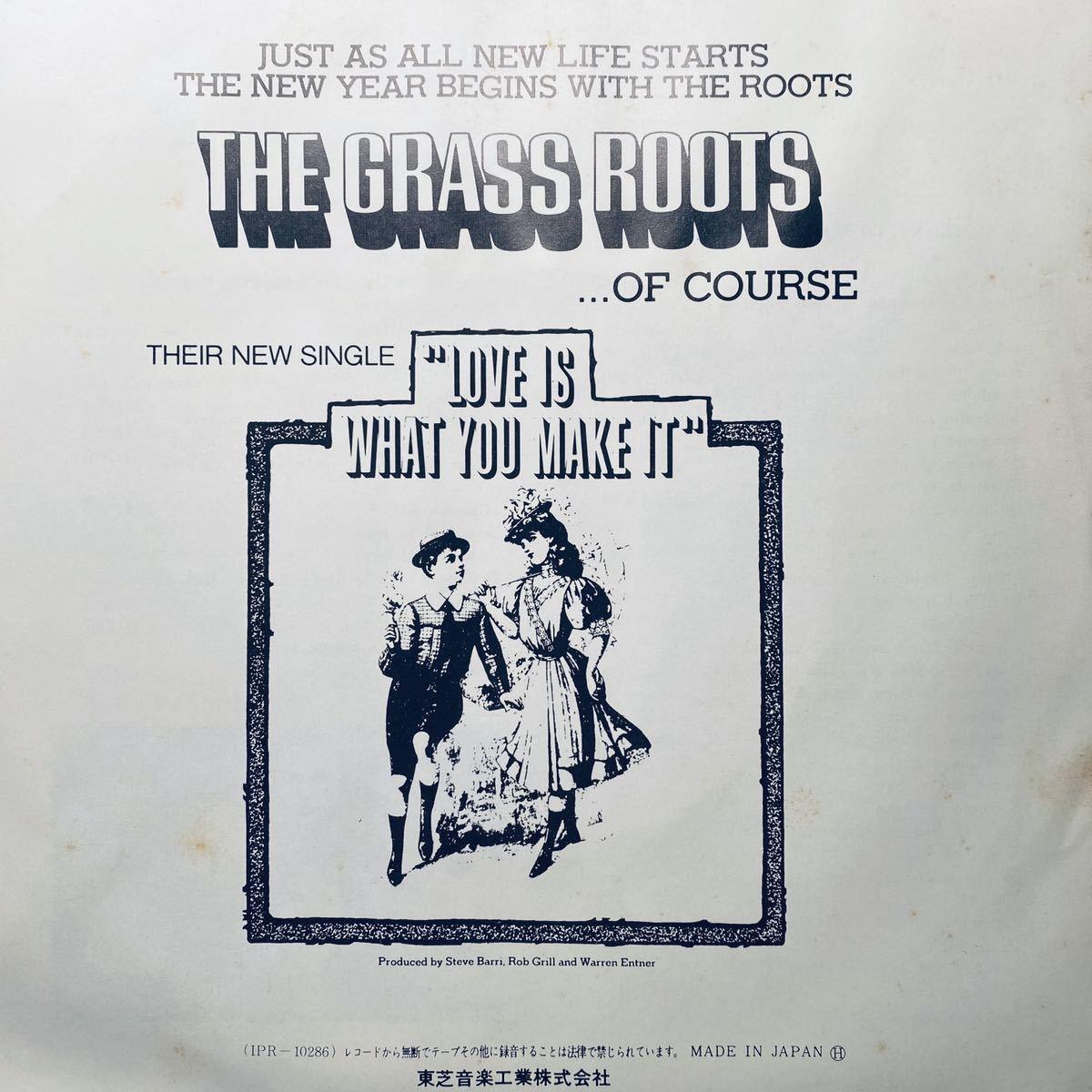 EP / グラス・ルーツ 恋に乾杯! / 国内見本盤白ラベル 赤盤 プロモ 非売品 THE GRASS ROOTS_画像3