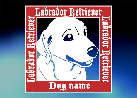 ラブラドールSquareステッカー、犬ステッカー_画像1
