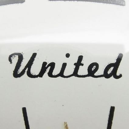 送料無料 アンティークウォールクロック UNITED/ヴィンテージ壁掛け時計アメリカ製usa製ミッドセンチュリー60s70s懐中時計ポケットクロック_画像8