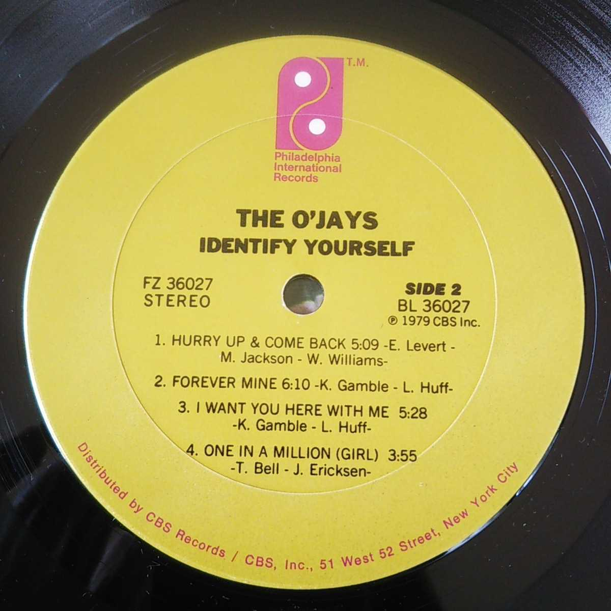 THE O'JAYS / IDENTIFY YOURSELF /LP/SING A HAPPY SONG/GAMBLE & HUFF/DISCO/フィリー/フリーソウル _画像4