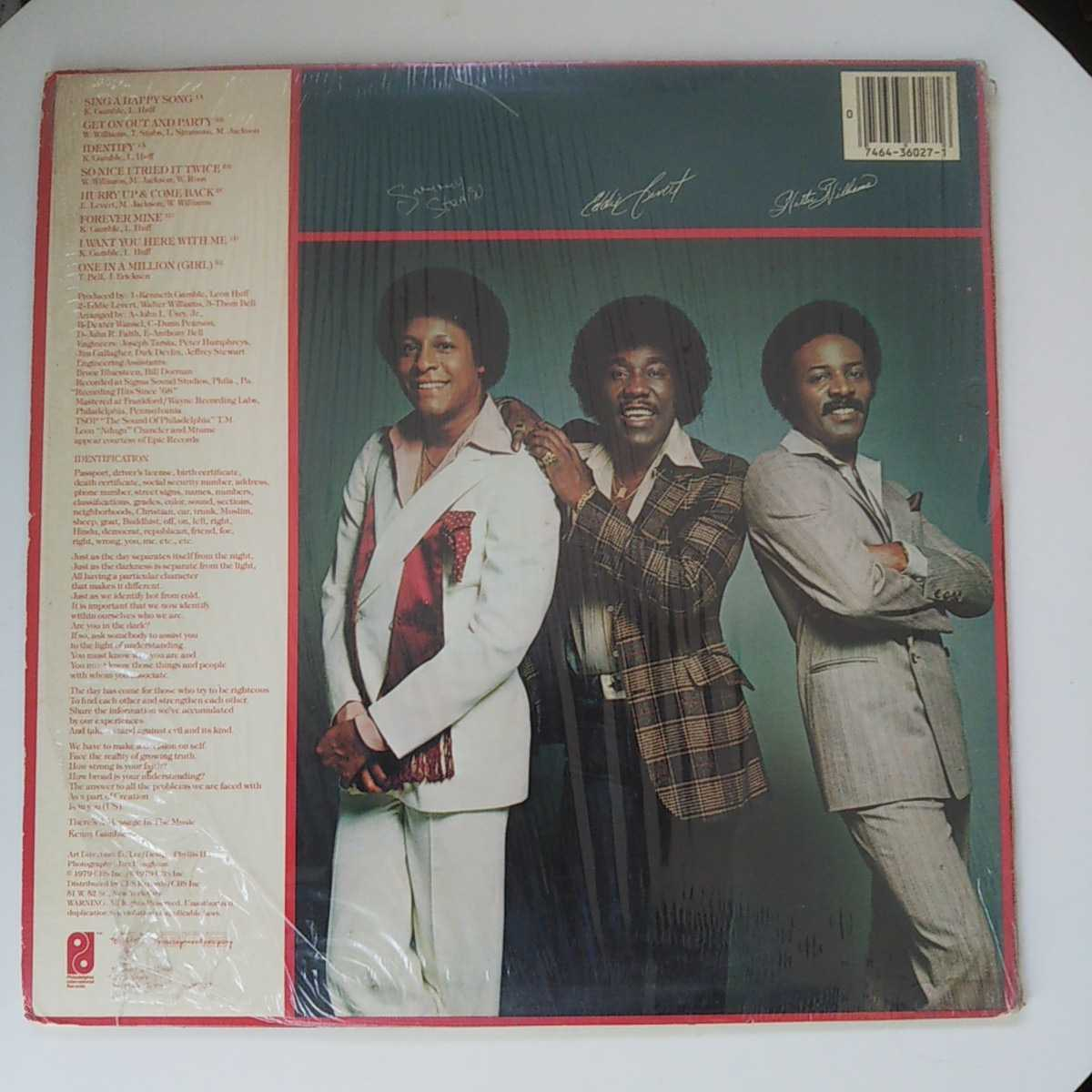 THE O'JAYS / IDENTIFY YOURSELF /LP/SING A HAPPY SONG/GAMBLE & HUFF/DISCO/フィリー/フリーソウル _画像2