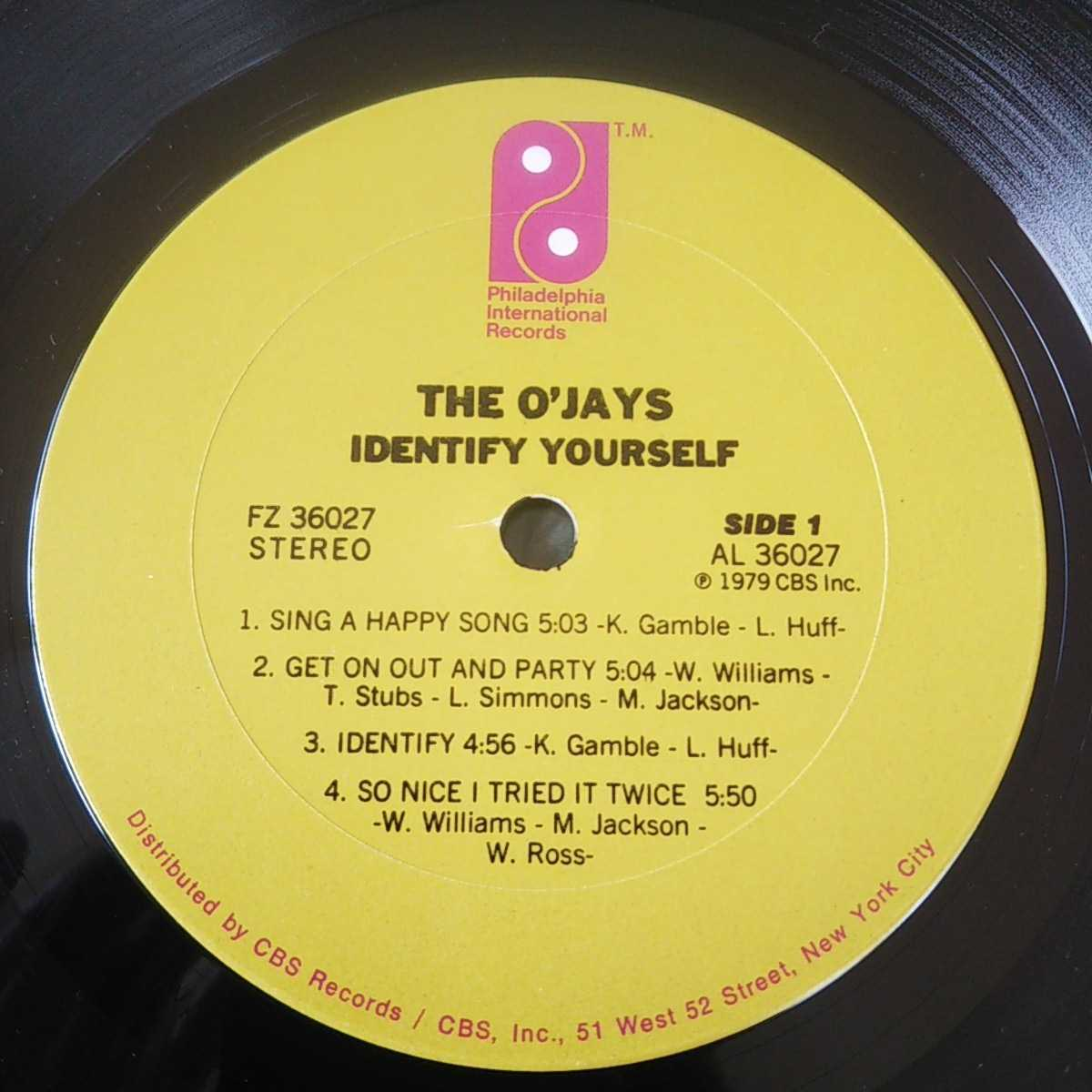 THE O'JAYS / IDENTIFY YOURSELF /LP/SING A HAPPY SONG/GAMBLE & HUFF/DISCO/フィリー/フリーソウル _画像3