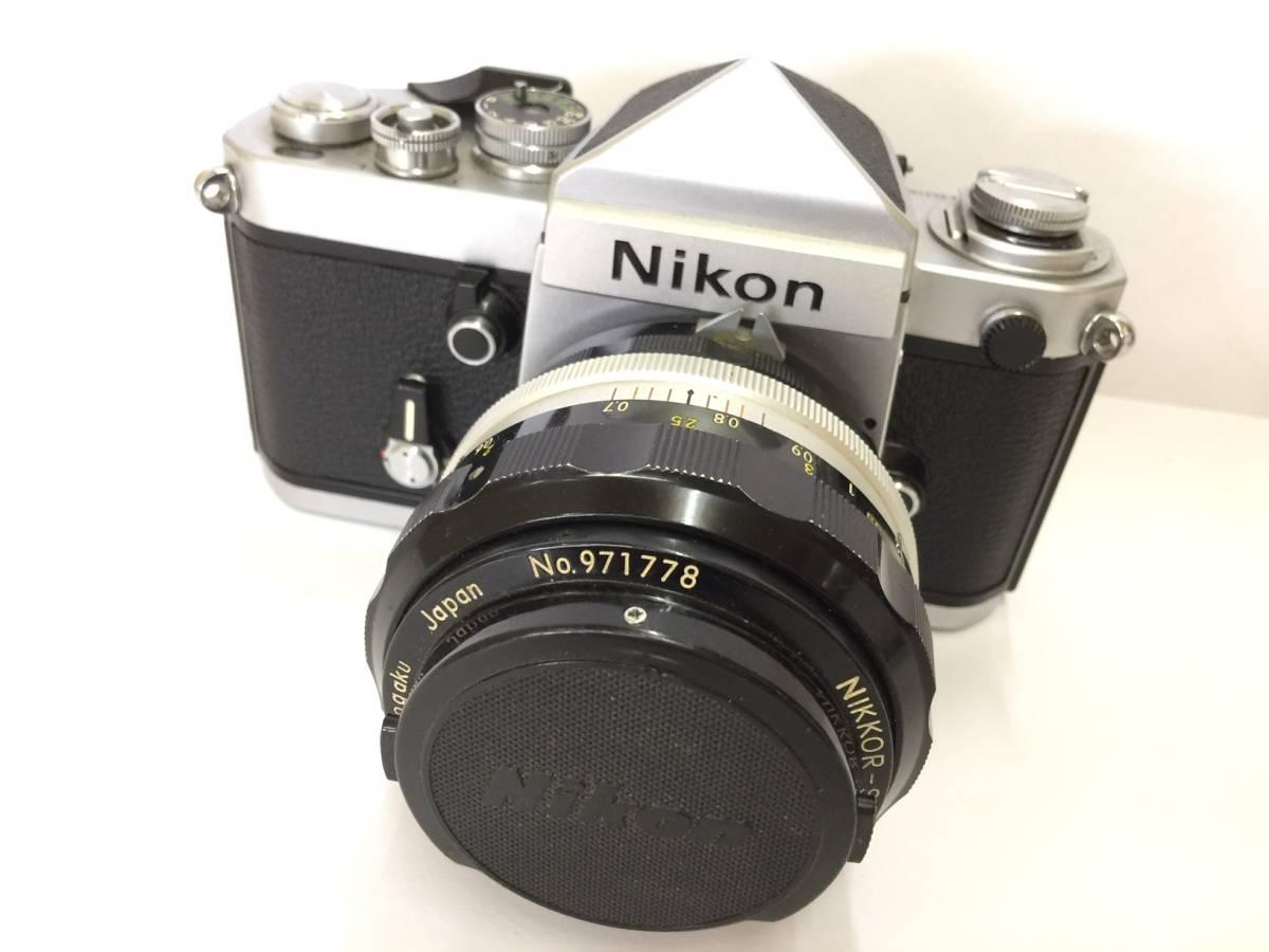 ? 1円~ Nikon ニコン F2 一眼レフカメラ シルバー ボディ レンズ NIKKOR-S Auto F1.2 55mm 動作未確認 ジャンク