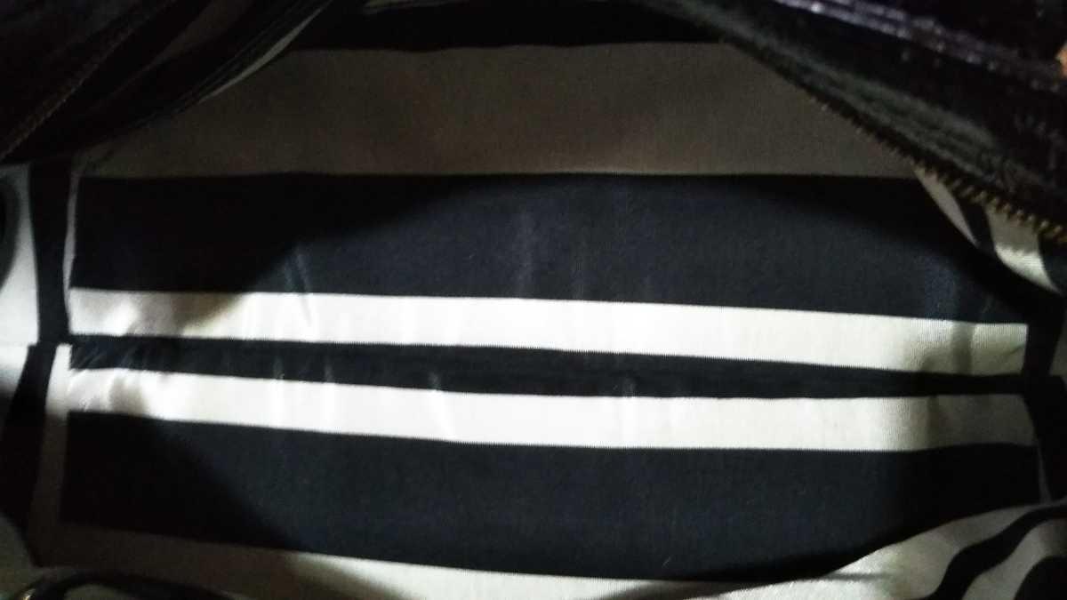 katespade ケイトスペード ハンドバッグ ショルダーバッグ 黒 エナメル レザー ブラック