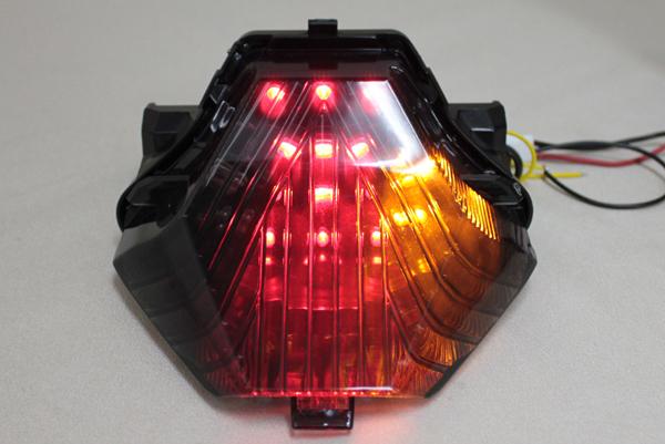 YZF-R25 ウインカー付 LEDスモークテールランプ MT-25 YZF-R3 MT-07 MT-03 LEDテールランプ YAMAHA ヤマハ_画像8