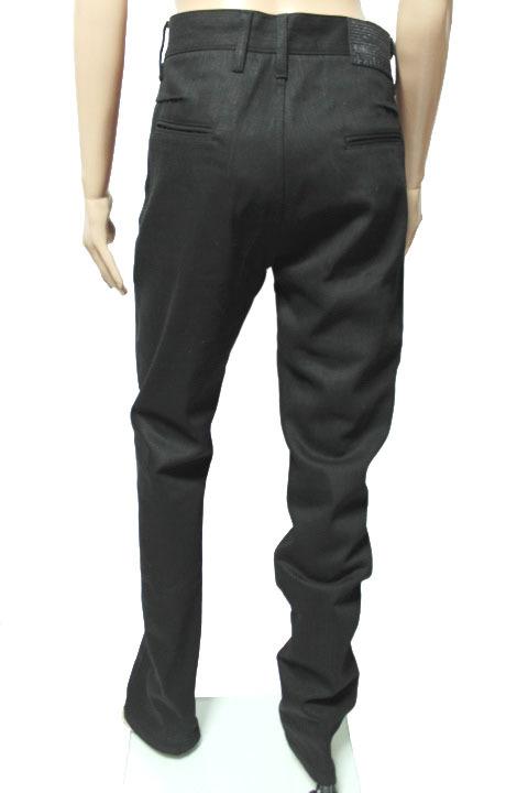 タグ付き 希少レア galliano ジョンガリアーノ  未使用 ブラック 黒 デニム パンツ ニュースペーパー 内側柄 メンズ 紳士_画像2