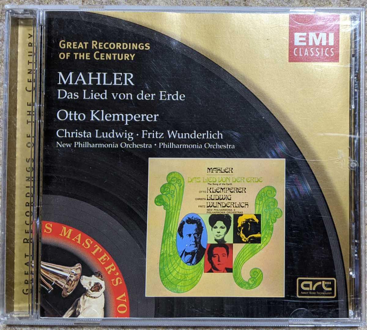 独EMI CD◎マーラー「大地の歌」クレンペラー/クリスタ・ルートヴィヒ/フリッツ・ヴンダーリヒ/フィルハーモニア管弦楽団_画像1