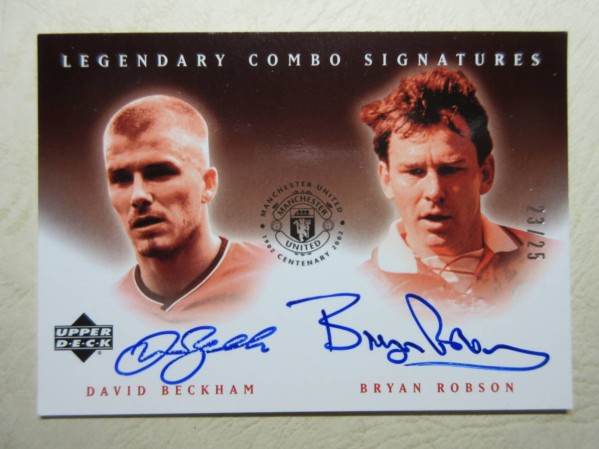 2002 UD Legendary Combo Signatures David Beckham/Bryan Robson/25 デビット・ベッカム ブライアン・ロブソン Soccer イングランド代表_画像3