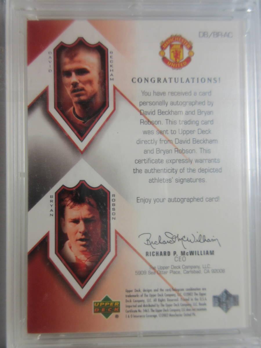 2002 UD Legendary Combo Signatures David Beckham/Bryan Robson/25 デビット・ベッカム ブライアン・ロブソン Soccer イングランド代表_画像2