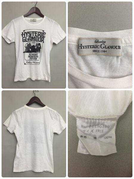 ♪☆ ヒステリックグラマー 半袖 薄手プリントTシャツ ラインストーン レディース Hysteric Glamour &