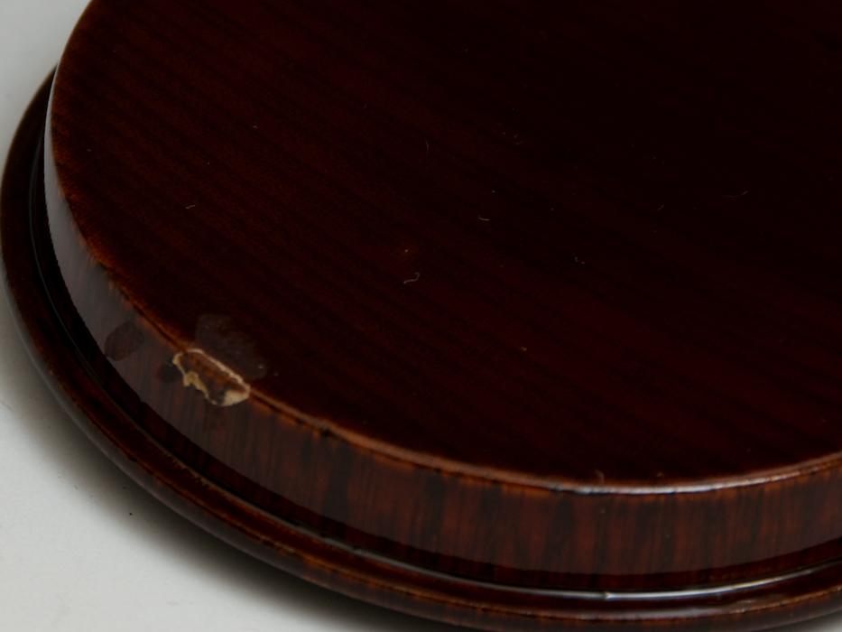 溜塗 花鳥図茶筒茶器 天然木木地 木工芸 漆工芸 漆芸 木製漆器 煎茶道具 美品 b7788e_画像7