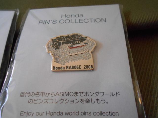 ホンダ ピンズコレクション ホンダF1 エンジンピンズ 3種セット 2004年~06年_画像4