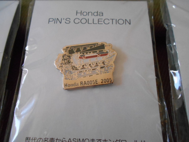 ホンダ ピンズコレクション ホンダF1 エンジンピンズ 3種セット 2004年~06年_画像3