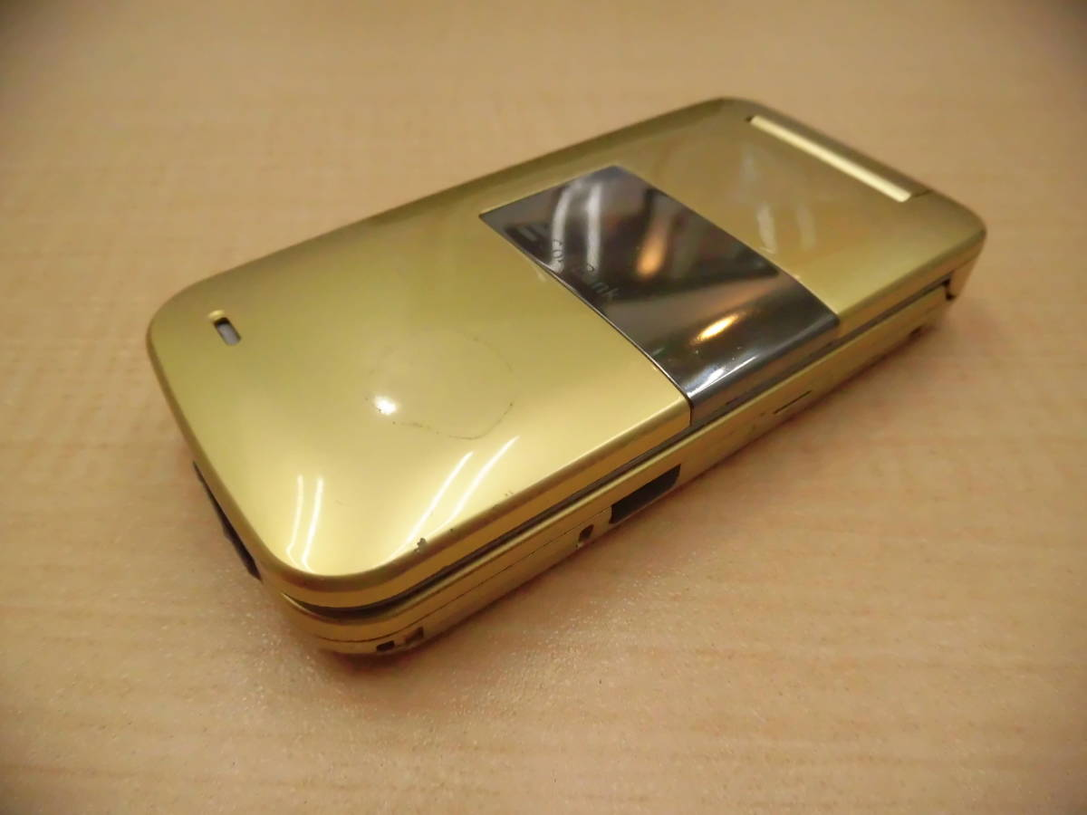 ◎SoftBank/ソフトバンク 携帯電話 ガラケー SHARP/シャープ 812SH フレッシュゴールド 利用制限◯◎_画像5