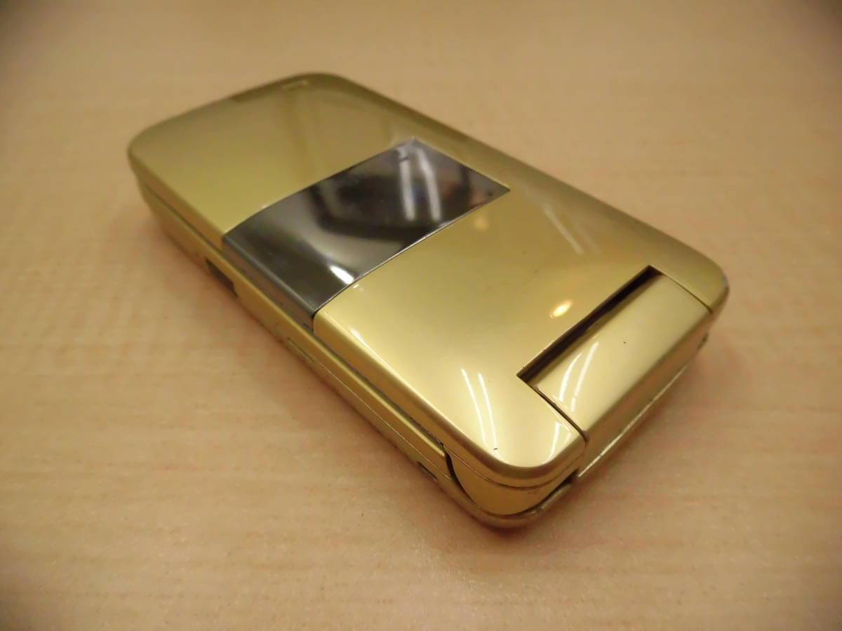 ◎SoftBank/ソフトバンク 携帯電話 ガラケー SHARP/シャープ 812SH フレッシュゴールド 利用制限◯◎_画像6