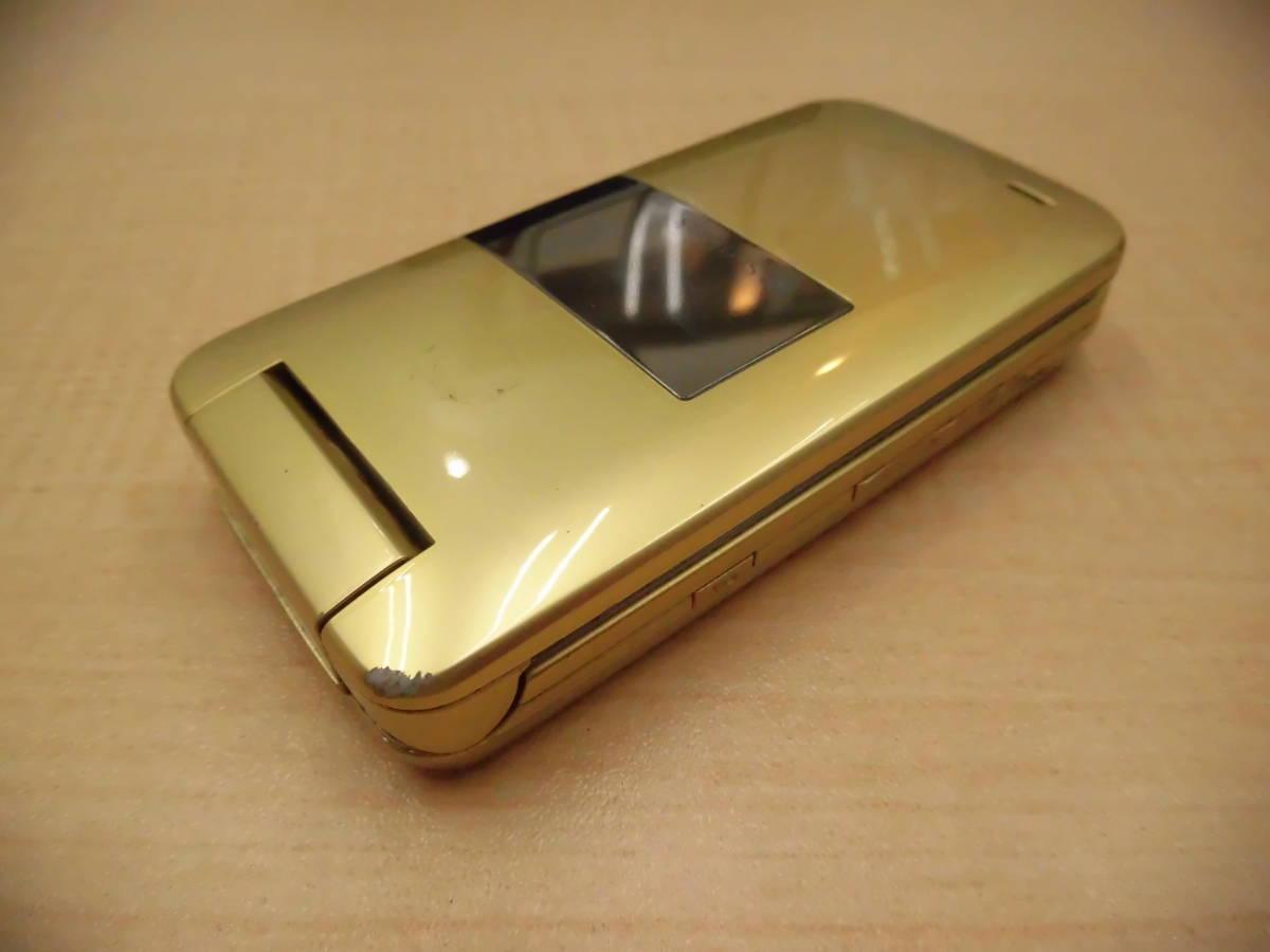 ◎SoftBank/ソフトバンク 携帯電話 ガラケー SHARP/シャープ 812SH フレッシュゴールド 利用制限◯◎_画像7