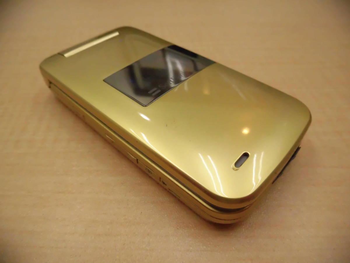 ◎SoftBank/ソフトバンク 携帯電話 ガラケー SHARP/シャープ 812SH フレッシュゴールド 利用制限◯◎_画像8