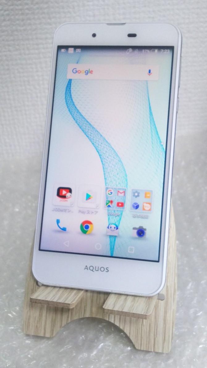 SHARP AQUOS L2 ホワイト White SIMロック解除済み SIMフリー 本体 白ロム 418558_画像1